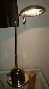 Desk Lamp Retro/Vintage Style in Brass Effect VGC Adjustable