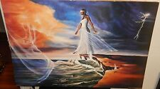 """KAVIN A WILLIAM """"STEP OUT ON FAITH"""" HUGE COLOR AFRICAN AMERICAN POSTER"""