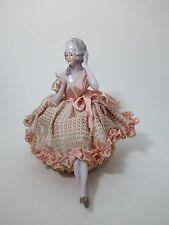 Seltene Teepuppe Halbpuppe Porcelain Half Doll with Legs (1)