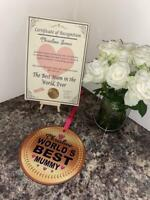 Personalised Novelty Mothers Day 'Giant Gold Medal' & Certificate - Fun Gift !