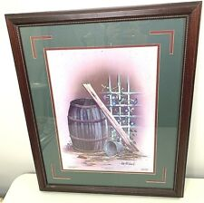 """Ken Holland Signed Lmt Ed Print 19x23 Framed """"They Passed This Way"""" 1989"""