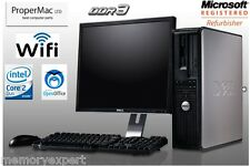 DELL DESKTOP 380 PC C2D E8400 3GHZ CPU 250GB 4GB DDR3 WI-FI WIN 7 MONITOR 17""