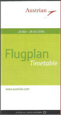Austrian Airlines system timetable 3/26/06 [7103]
