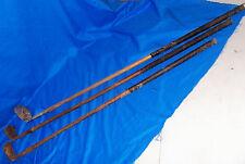 3 Old Wooden Golf Putters Burke Hillerich & Bradsby Wood Vintage Antique Putter