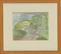 Edward Morgan (1933-2009) - Signed 20th Century Graphite Drawing, Country Walk