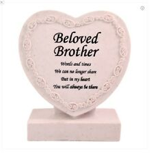 Memorial/Grave Heart ~ CremationMarker/Plaque ~ BELOVED BROTHER