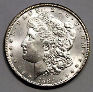 1884 CC Carson City Morgan Silver Dollar - AU+/BU !!