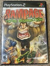 Rampage: Total Destruction (Sony PlayStation 2, 2006) PS2 complete cib tested