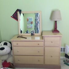 bedroom set includes dresser, chest, book shelf, and toy box.