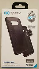 Speck Presidio Grip Case Protection Cover for Samsung Galaxy S8 - Black - New