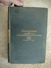 NEBRASKA DEPT of AGRICULTURE 1898 ANNUAL REPORT HB PARTIAL POLITICAL SCRAP BOOK