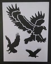 """American Eagle Eagles Bird 8.5"""" x 11"""" Custom Stencil FAST FREE SHIPPING"""