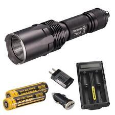 NiteCore TM03 2800 Lumen CREE XHP70 LED Flashlight + UM20 Charger & 2x Batteries