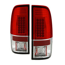 Pair LED Tail Lights Lamps Ford 250 350 450 SuperDuty 2008-2016 Red Clear Lens