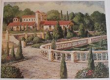 "Print ""Villa de Espana"" Painted By Van Martin Artist 25"" X 19"" Published"