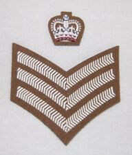 More details for brand new british army badges of fad rank, lcpl, cpl, sgt, ssgt, wo2, wo1