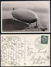 Zeppelin Karte LZ 130 – Zeppelin Landung Leipzig - 1937