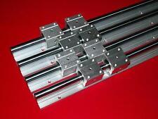 linear slide guide shaft SBR12-1000mm/16-1000mm 4 rail+8 sbruu bearing block CNC