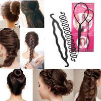 Black Braid Clip Styling Tool  Bun Maker Hair Twist Donut Stick  Hair Braiding