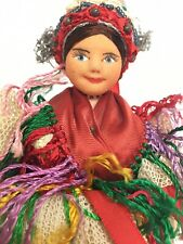 "Antique Russian Cloth Soviet Union Stockinette 8"" Doll"