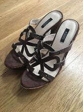 ASOS Brown Faux Croc Wedges / Sandals Size 5