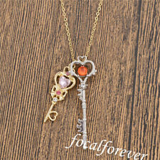 Sailor Moon Girls Key Necklace Crystal Cosplay Party Statement Anime Cute Gift