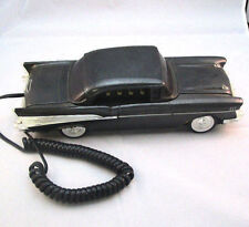 BLACK AND CHROME 57 CHEVY CORDED TELEPHONE BY TELEMANIA ***