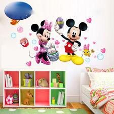 Mickey et Minnie Souris autocollant Mural Cartoon Vinyle Décalques Enfants Bébé