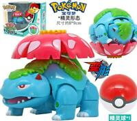 Pokemon Monster Venusaur Florizarre Bisaf Poke Ball Transformation Action Figure