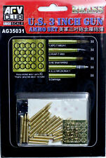 AFV Club 1/35 AG35031 WWII US 3-inch Gun Ammo Set (Brass)