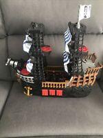 Pirate Ship Fisher Price 2006 Imaginext Mattel Red Black