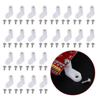 100Pcs White Plastic L Type PCB Mounting Feet with Screws for Arcade Game Board