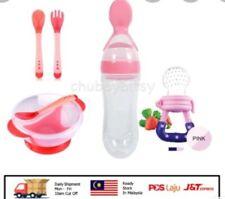 Baby Feeding Set + bottle squeeze + baby feeding bite + spoon