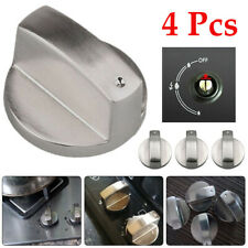 4Pcs 6mm Silver Universal Gas Stove Knobs Switch Cooker Oven  Hob Control Knobs