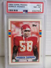 1989 Topps Traded Derrick Thomas RC PSA NM-MT 8 Football Card #90T NFL HOF