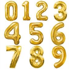 Ballons de fête ballons chiffres dorés en forme chiffre pour la maison