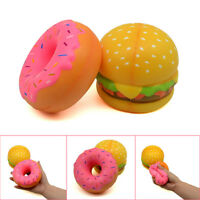 Jumbo Stress Reliever Scented Hamburger Doughnut Super Slow Rising Squeeze Toy