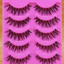 5 pair Natural clear band False eyelashes Winged eye lash Daily eyelashes Makeup