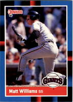 1988 Matt Williams Donruss Baseball Card #628