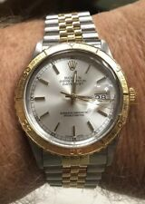 Rolex Date-Just Thunderbird Turn-O-Graph 16253 Silver Dial 18K Gold/ SS Band
