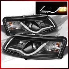 Fits 2006-2008 Audi A6 Bk Projector Headlights DRL LED Styl Lights Tube Strip