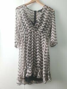 The Kooples Silk Dress Size M Floral V Neck Spring Summer Floaty
