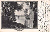 BOULDER CO UNIVERSITY OF COLORADO UNIVERSITY LAKE DENVER ENG COMP POSTCARD 1906