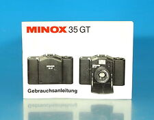 Minox 35 GT Gebrachsanleitung german manual mode d'emploi allemand - (25964)