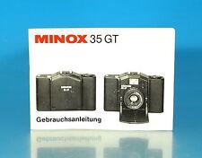 Minox 35 GT gebrach istruzioni German manual mode d'emploi Otersdorf - (25964)
