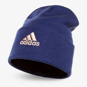 ADIDAS GS2104 logo woolie cappello unisex invernale blu