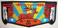 EL KU TA LODGE OA 520 GREAT SALT LAKE 508 535 407 S12 KISSING ELK SERVICE FLAP