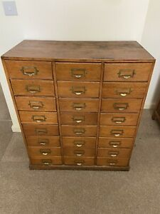 1950/60s Vintage Office / Apothecary Chest Of Drawers Cabinet with 24 Drawers