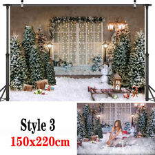 Wood Board Christmas Backdrop Photography Props Background Party Photo 180X250