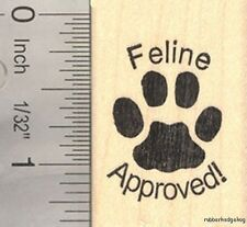 Feline Approved Rubber Stamp for Cat Lovers D16703 WM
